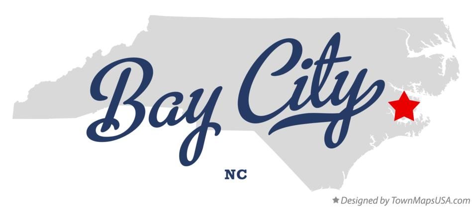 Map of Bay City North Carolina NC
