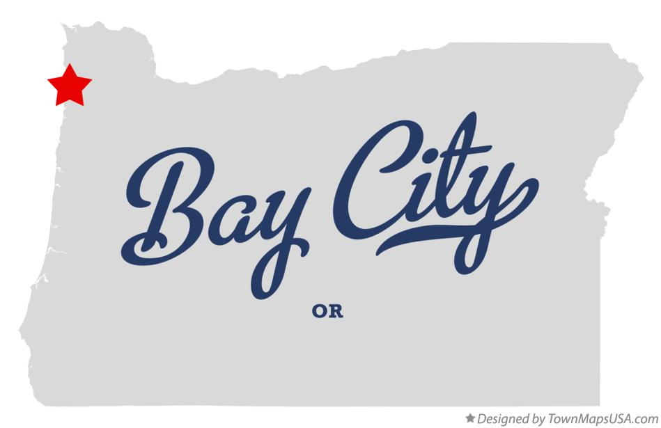Map Of Bay City Or Oregon