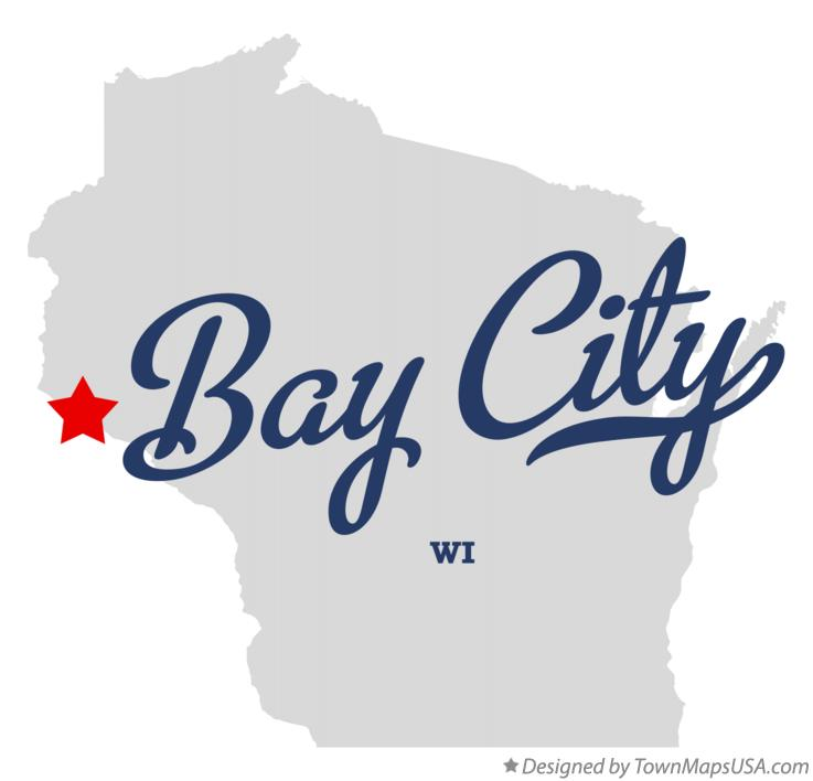 Map of Bay City Wisconsin WI