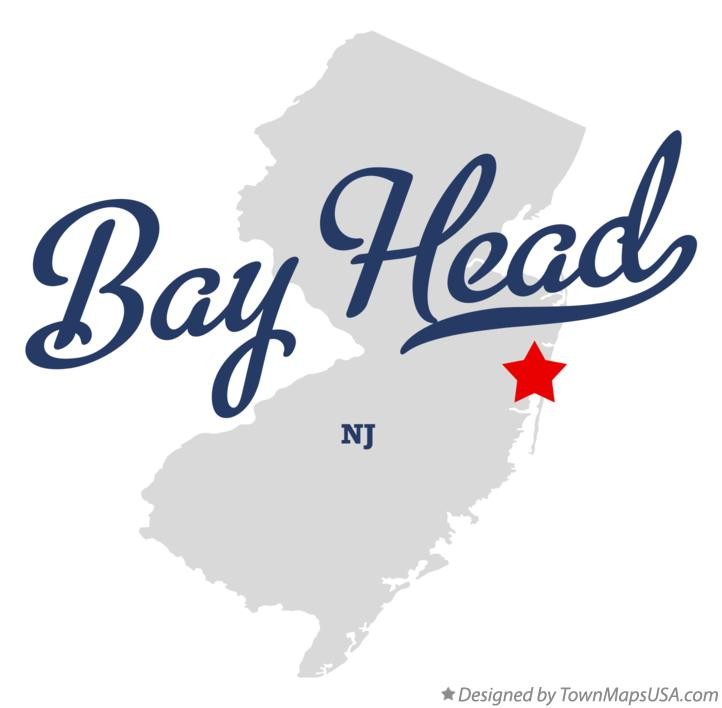 Map of Bay Head New Jersey NJ