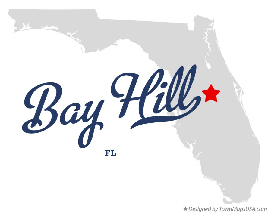Map of Bay Hill Florida FL