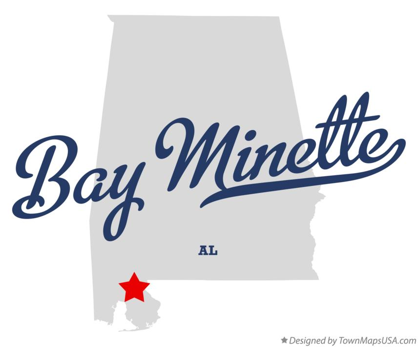 Map of Bay Minette Alabama AL