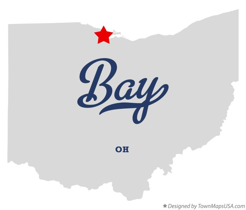 Map of Bay Ohio OH