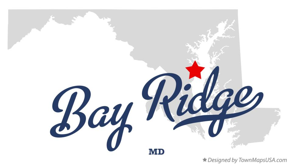 Map of Bay Ridge Maryland MD