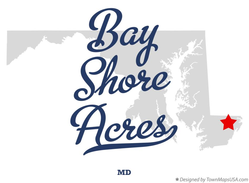 Map of Bay Shore Acres Maryland MD