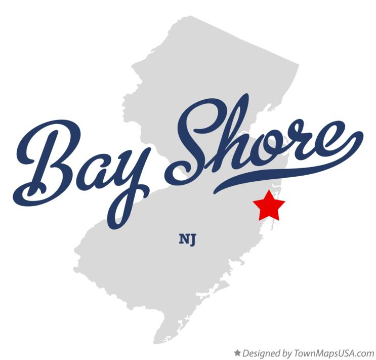 Map of Bay Shore New Jersey NJ