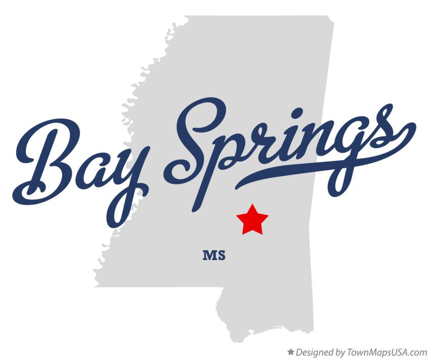 Map of Bay Springs Mississippi MS