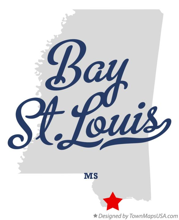 Map of Bay St.Louis Mississippi MS