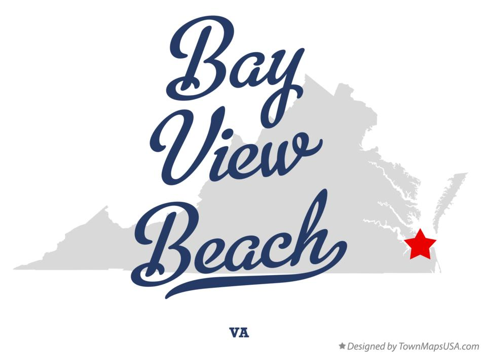 Map of Bay View Beach Virginia VA