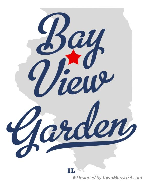 Map of Bay View Garden Illinois IL