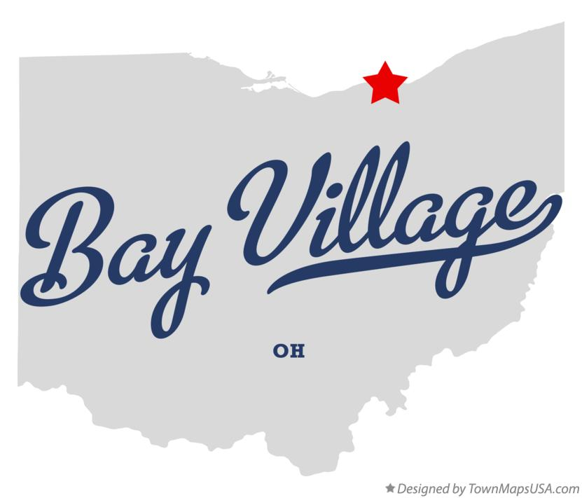 Map of Bay Village Ohio OH