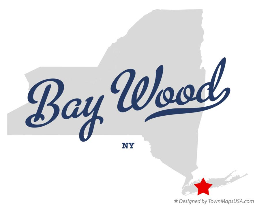 Map of Bay Wood New York NY