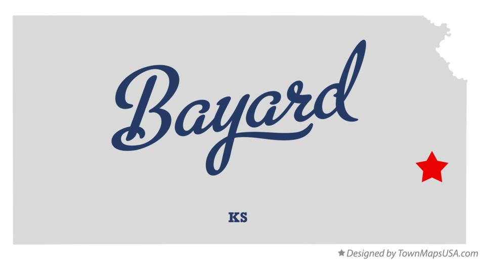 Map of Bayard Kansas KS