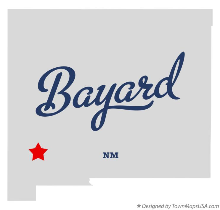 Map of Bayard New Mexico NM