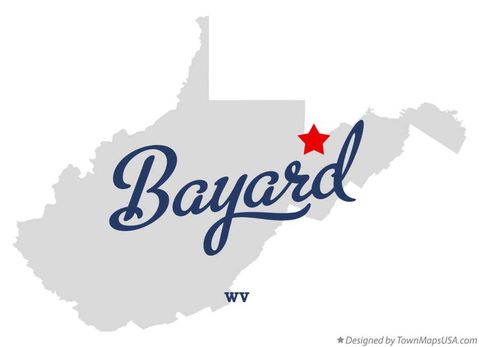 Map of Bayard West Virginia WV