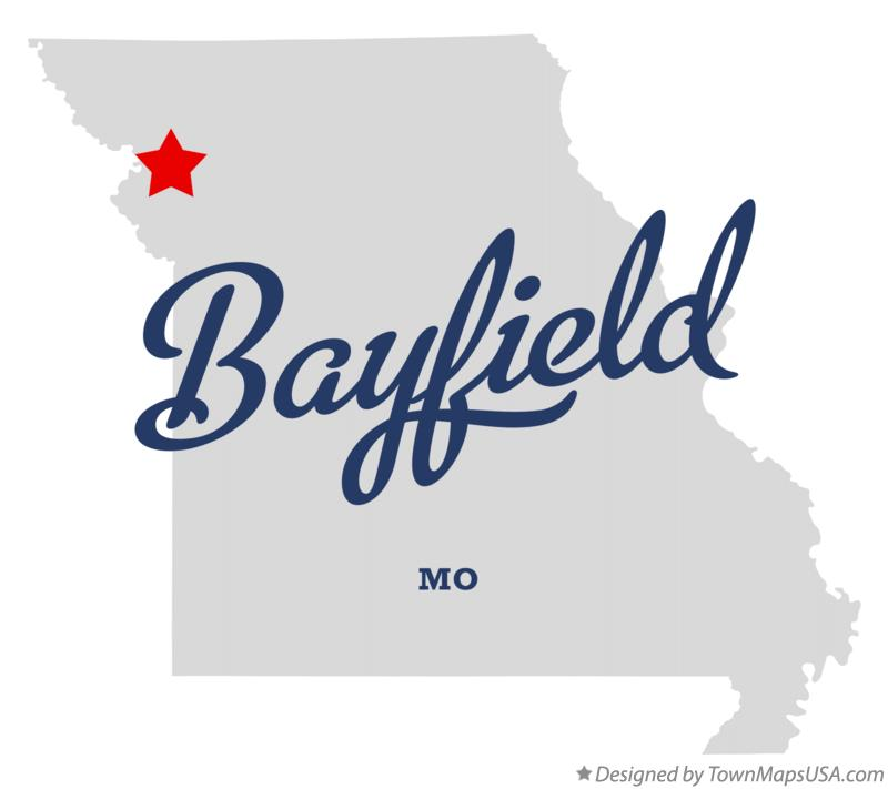 Map of Bayfield Missouri MO