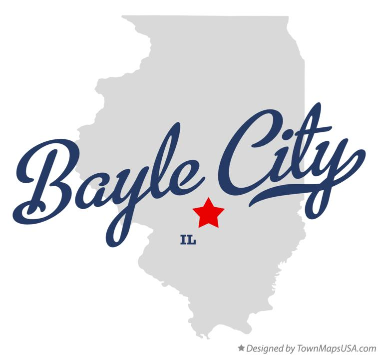 Map of Bayle City Illinois IL