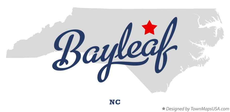 Map of Bayleaf North Carolina NC