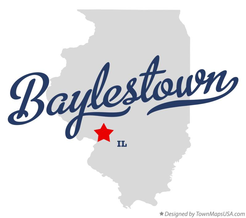 Map of Baylestown Illinois IL