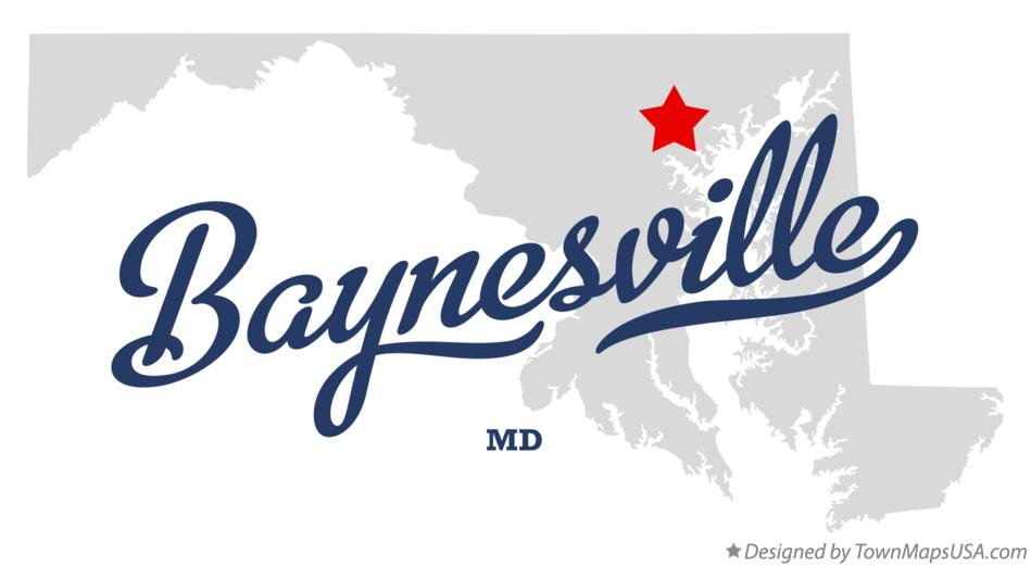 Map of Baynesville Maryland MD