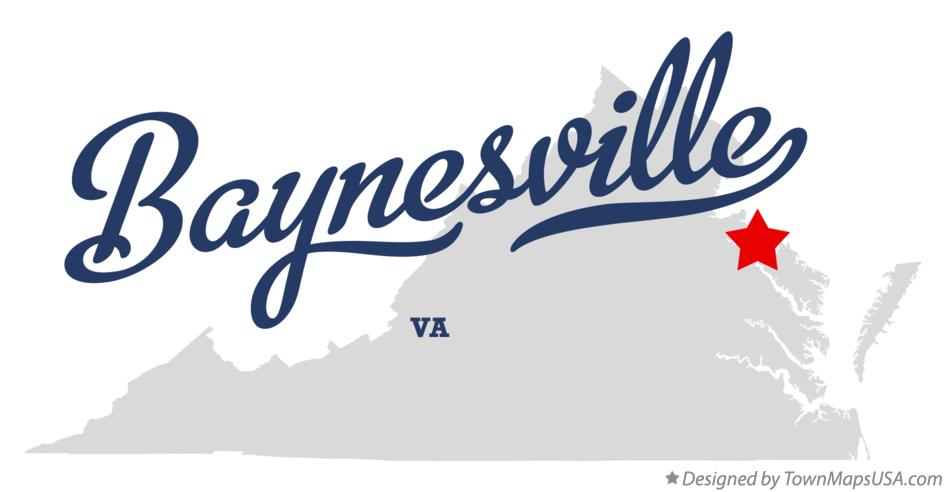 Map of Baynesville Virginia VA