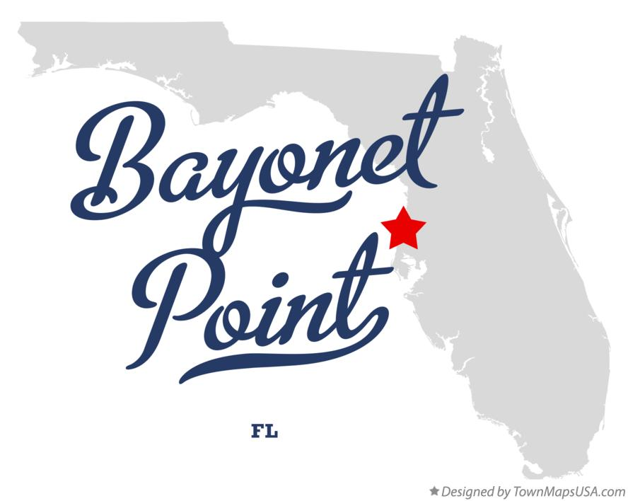 Map of Bayonet Point Florida FL