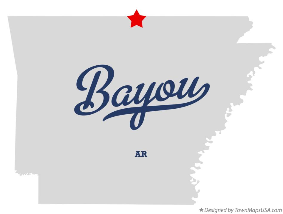 Map of Bayou Arkansas AR