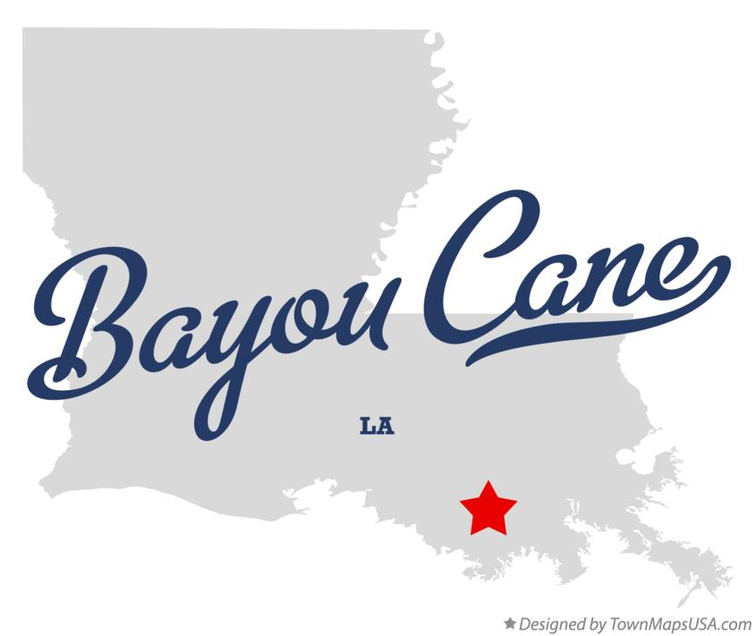 Map of Bayou Cane Louisiana LA