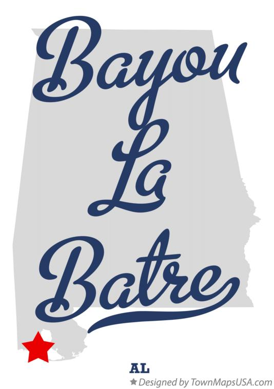 Map of Bayou La Batre Alabama AL