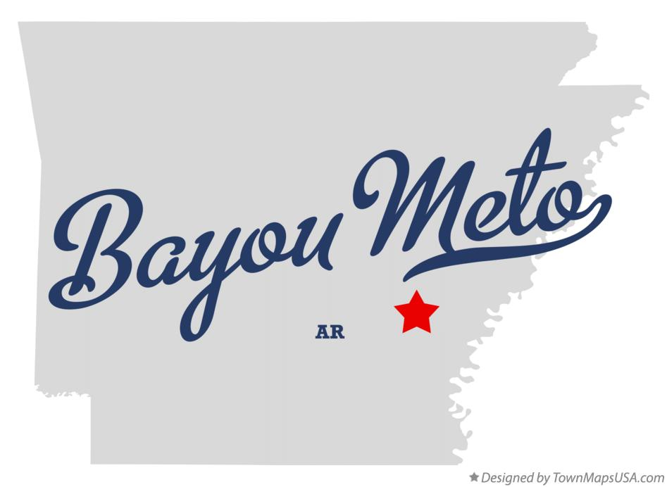 Map of Bayou Meto Arkansas AR