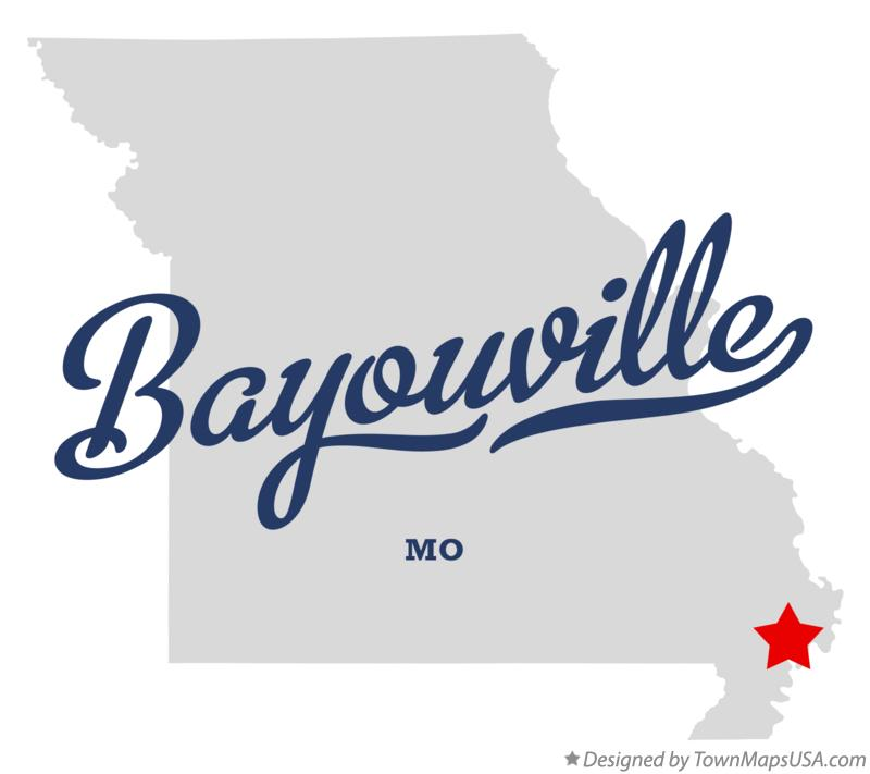 Map of Bayouville Missouri MO