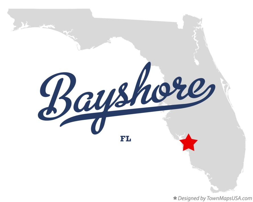 Map of Bayshore Florida FL
