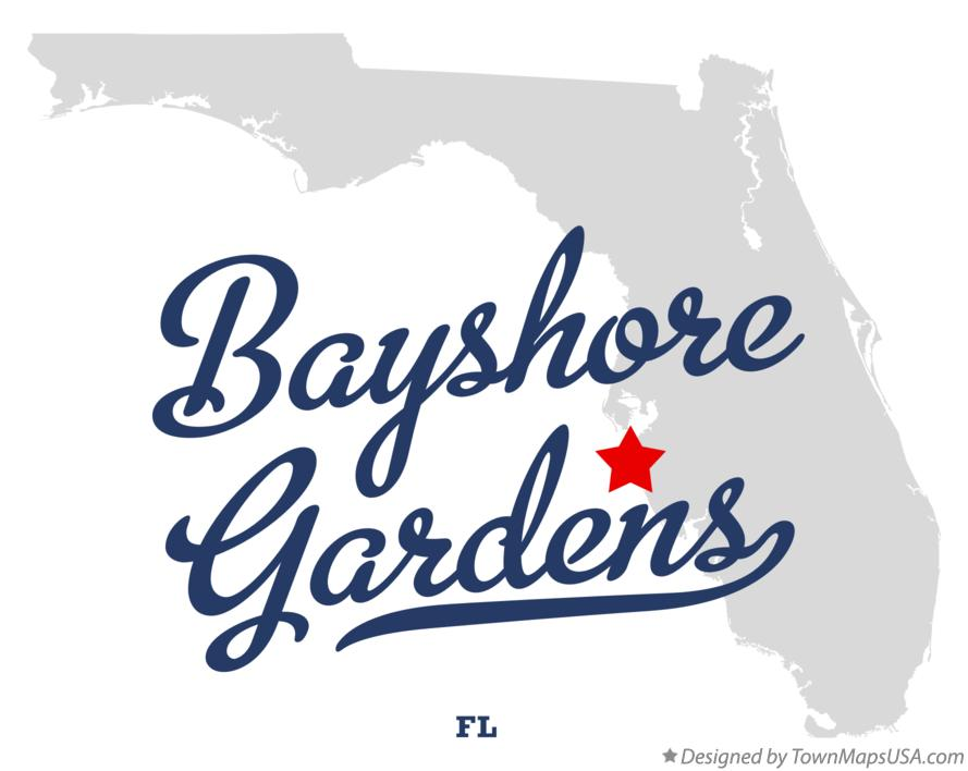 Map of Bayshore Gardens Florida FL
