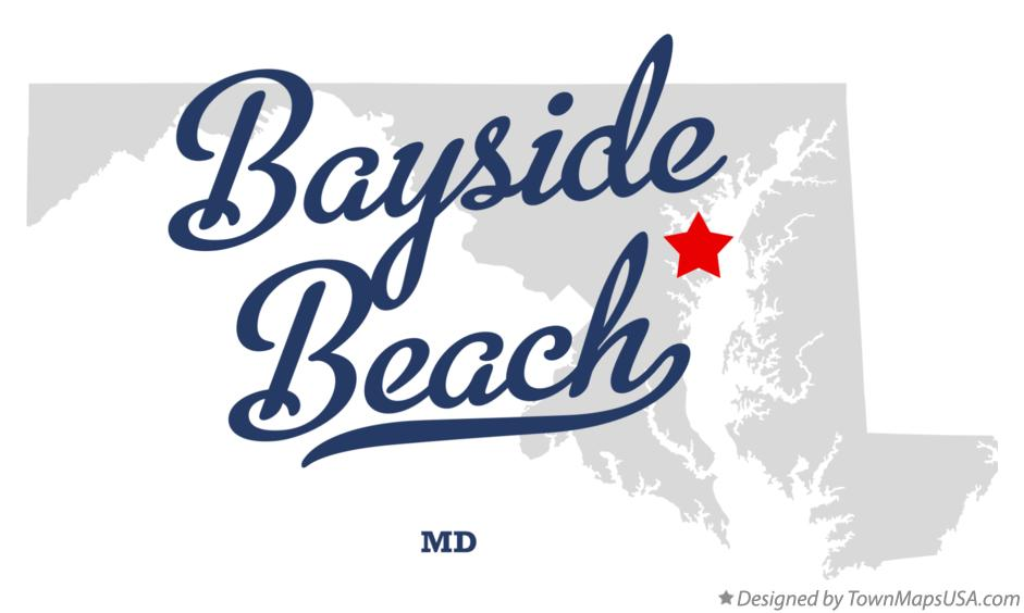 Map of Bayside Beach Maryland MD