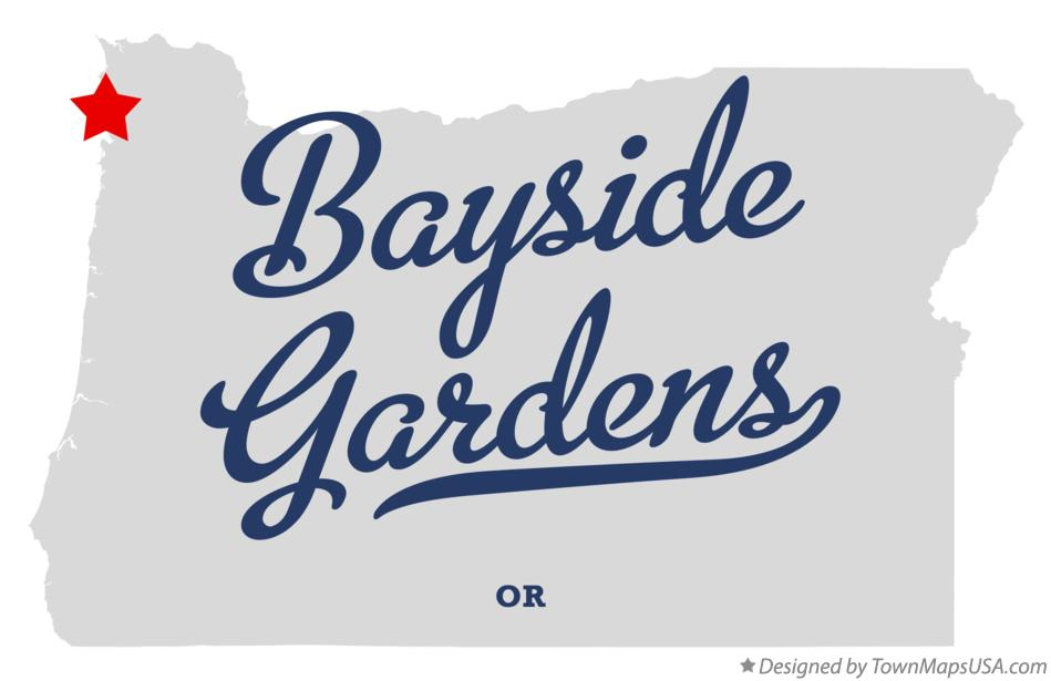 Map of Bayside Gardens Oregon OR