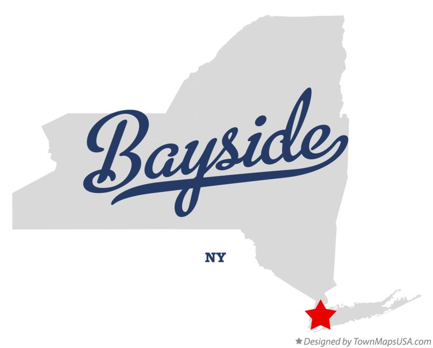 Map of Bayside New York NY