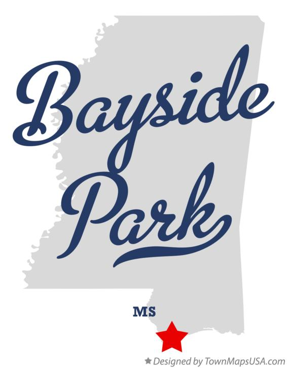 Map of Bayside Park Mississippi MS