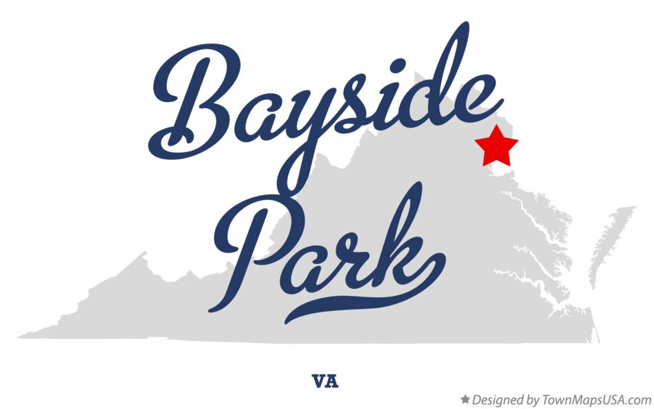Map of Bayside Park Virginia VA