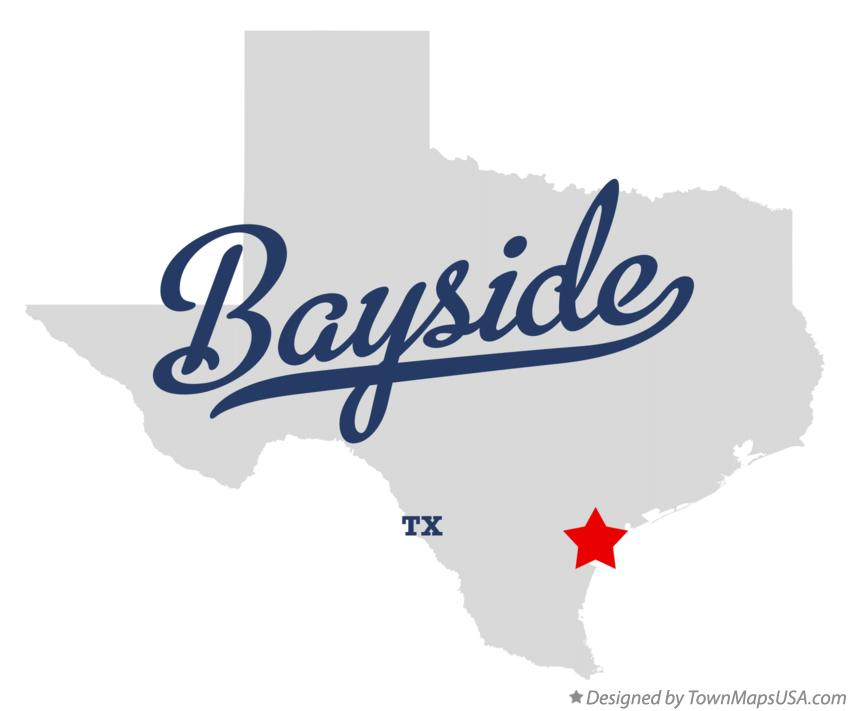 Map of Bayside Texas TX