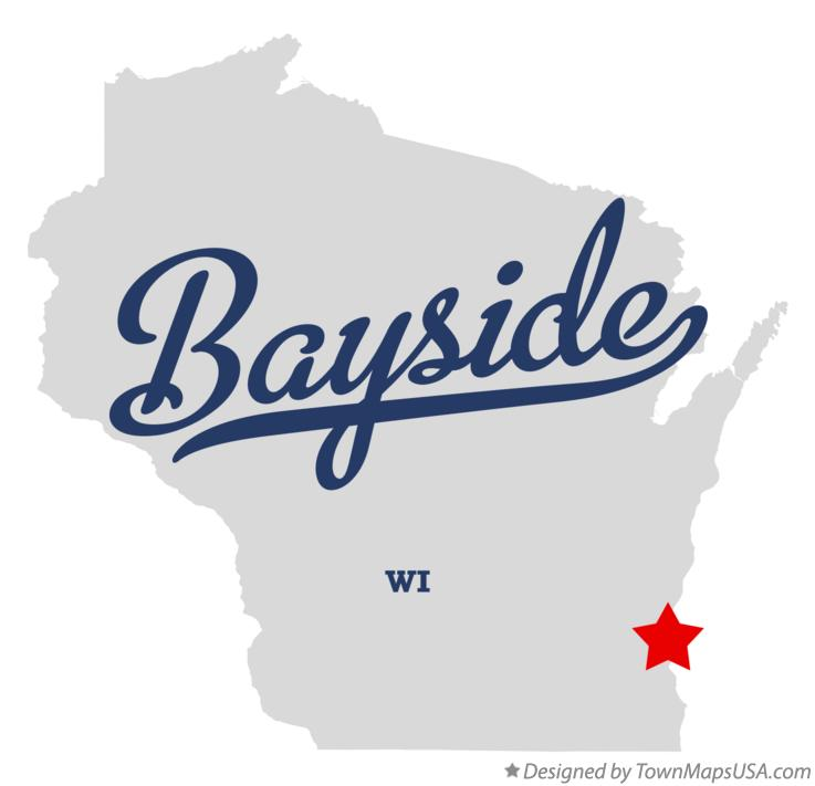 Map of Bayside Wisconsin WI