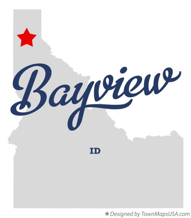 Map of Bayview, ID, Idaho