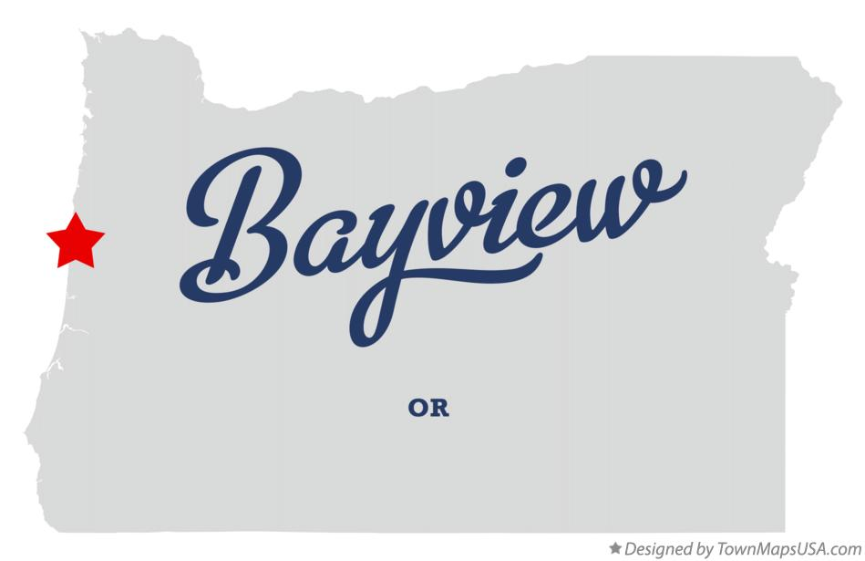 Map of Bayview Oregon OR