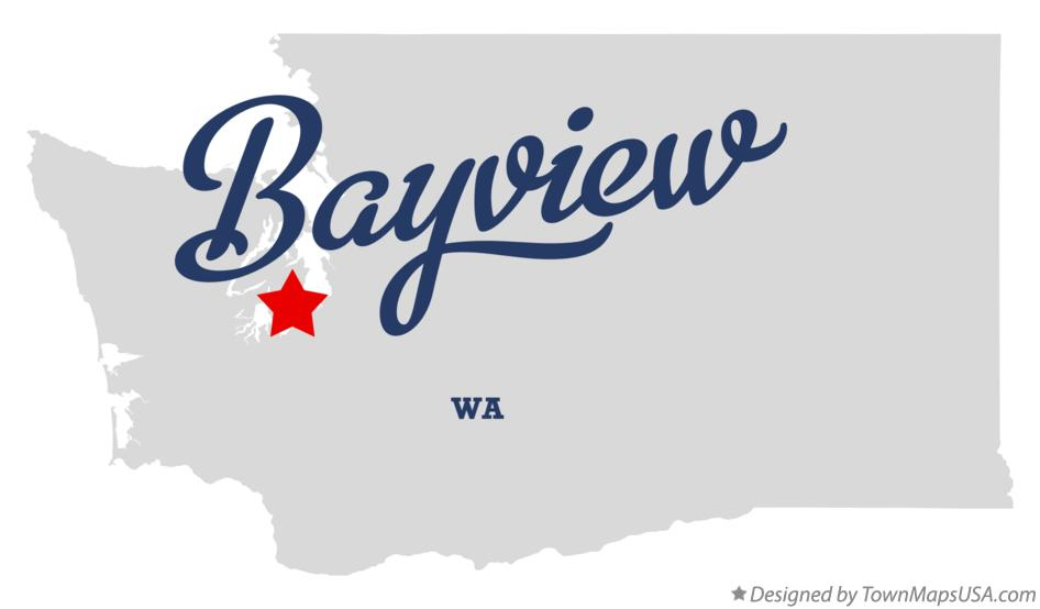 Map of Bayview Washington WA