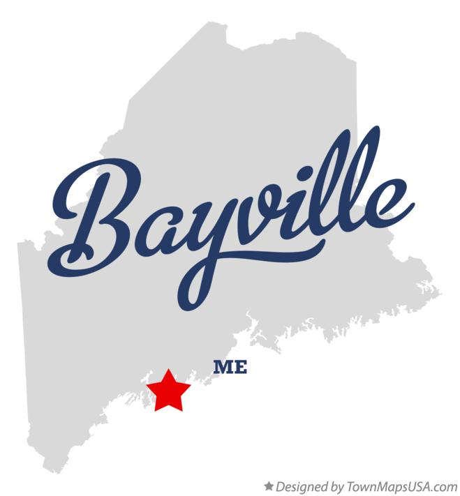 Map of Bayville Maine ME
