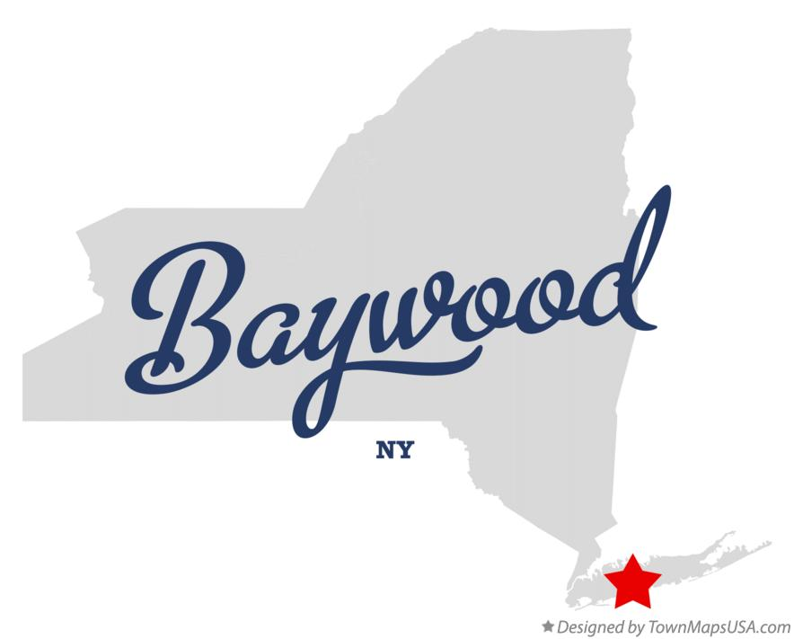 Map of Baywood New York NY