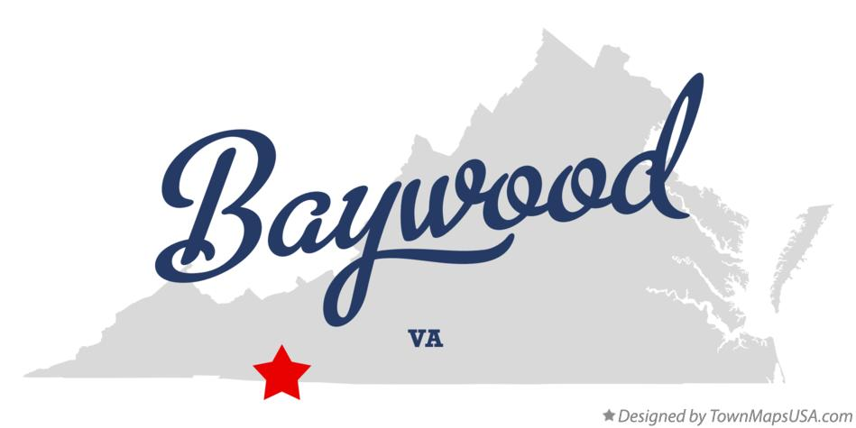 Map of Baywood Virginia VA
