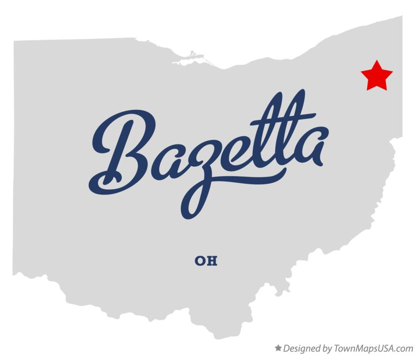 Map of Bazetta Ohio OH