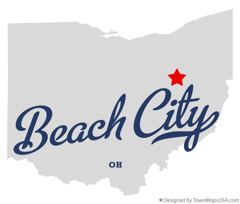 Map of Beach City Ohio OH