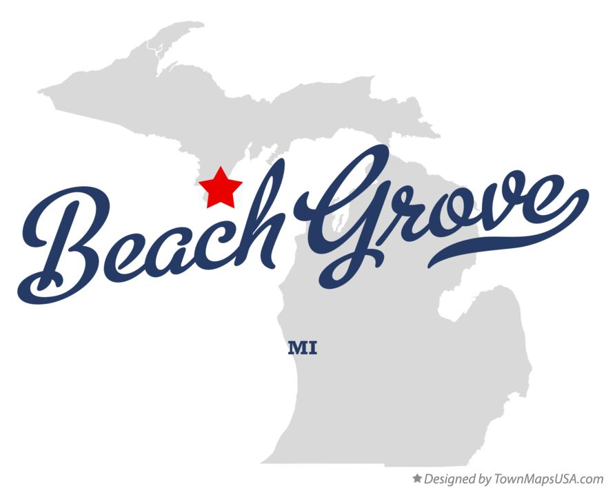 Map of Beach Grove Michigan MI