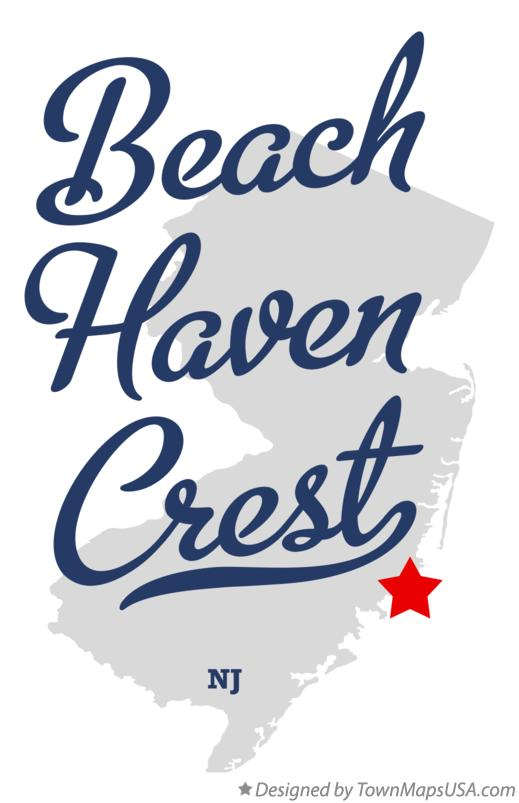 Map of Beach Haven Crest New Jersey NJ